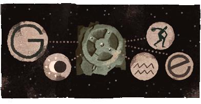 Google Doodle Antikythera Mechanism