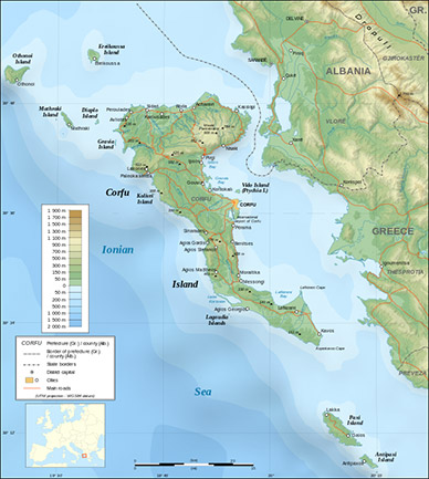 Corfu-Map