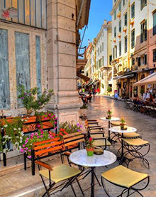 Corfu-Old-Town-Tables