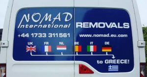 Greece removals shuttle vans